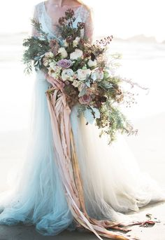 66 New Ideas Wedding Bouquets Boho Ribbons Romantic Flowers, Bridal Flowers, Elegant Flowers, Bride Bouquets, Floral Bouquets, Cascading Wedding Bouquets, Boho Wedding Bouquet, Pastel Bouquet, Wedding Dresses