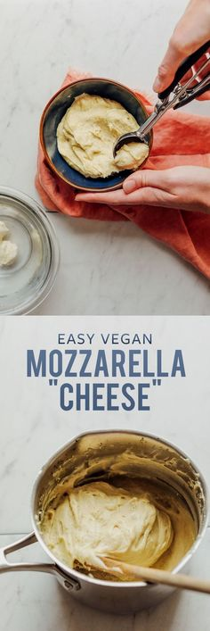 AMAZING Stretchy Veg AMAZING Stretchy Vegan Mozzarella Cheese! 7 ingredients, SO stretchy, cheesy, and delicious! #cheese #mozzarella #recipe #vegan #glutenfree #minimalistbaker https://www.pinterest.com/pin/3377768454864387/