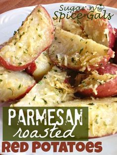 Parmesan Roasted Red Potatoes! They look like the potatoes Barbra makes! Yummy!!