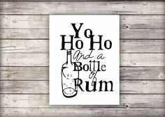 Yo Ho Ho and a bottle of Rum!' - Pirate Printable wall art instant download #printable #printableart #art #etsy #handmade #newzealand #newzealandartist #digitalart #wallart #homedecor #interiordecor # smallbusiness #abmlifeiscolorful # illustration # shopsmall #artprint #dscolor #creativelife  #craftsposure