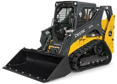Studio view of a  John Deere 317G Compact Track Loader