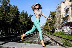 Silk crop shirt Linen Pants
