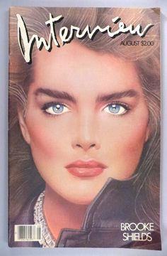 Super airbrushed Brooke Shields photographed by Albert Watson and illustrated by Richard Bernstein for the cover of Interview magazine's August 1983 issue. Brooke Shields, Richard Avedon, Sabrina Salerno, Magazine Pictures, Celebrity Magazines, Old Paris, Fashion Cover, Andy Warhol, Cover Art