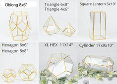 Glass Geometric Terrarium/ Wedding Table Decor/ Succulent   Etsy Floating Flower Centerpieces, Floating Flowers, Table Centerpieces, Geometric Box, Geometric Jewelry, Terrarium Containers, Glass Terrarium, Terrarium Wedding Centerpiece, Kit