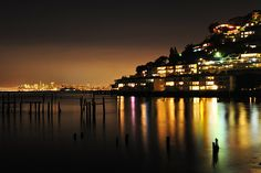 Night in Sausalito by Alex Zyuzikov, via Flickr