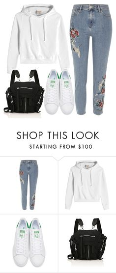 """923"" by florentina616 ❤ liked on Polyvore featuring River Island, Vetements, adidas Originals and Alexander Wang"