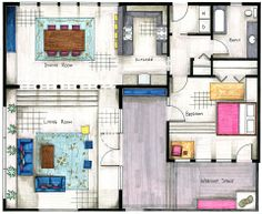 8 Best Floor Plan Rendering Images Sketches Interior Rendering