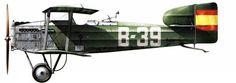 Breguet XIV. Avión utilizado por el Ejercito Español en la guerra del Rif.