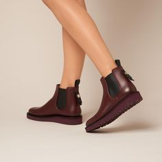 Skye Oxblood Weather Ankle Boot | Shoes | Collections | L.K.Bennett, London