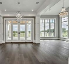 Dining Room Home Lighting – How to Choose the Right Kind - All For House İdeas Dream Home Design, My Dream Home, Home Interior Design, Dining Room Lighting, Dining Room Windows, Floor To Ceiling Windows, Kitchen Lighting, My New Room, Great Rooms