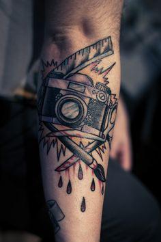 Whoa, badass. Tattoo by Fabian Nitz, Rose of No Man's Land Berlin, Germany viafuckyeahtattoos