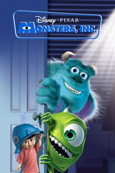 The Geeky Nerfherder: Movie Poster Art: Monsters Inc (2001)