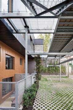 Résidence Marquette _Naturehumaine. Terrasse commune, passerelle, acier.