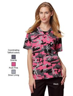 Uniform Advantage offers a vast assortment of medical scrubs and uniforms that are comparable to both Lydia's & Tafford uniforms. Camo Scrubs, Uniform Advantage, Medical Scrubs, Dental Assistant, Scrub Tops, Pink Grey, Pocket, Office Ideas, Blouse
