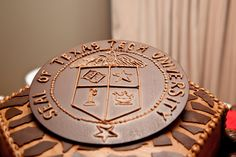 Groom's Cake with the Texas Tech Seal:Leslie Spurlock Photography