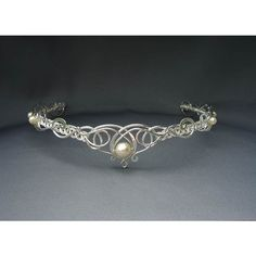 Sabrina Circlet, Celtic Elven Headpiece Wedding Bridal Medieval... ($290) ❤ liked on Polyvore featuring accessories, hair accessories, crowns, jewelry, tiaras, circlets, circle, circular, round and crown tiara