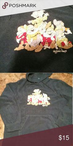 Cute Seven dwarfs  navy fleece hoodie sz xl Cute Seven dwarfs  navy fleece hoodie sz xl Tops Sweatshirts & Hoodies