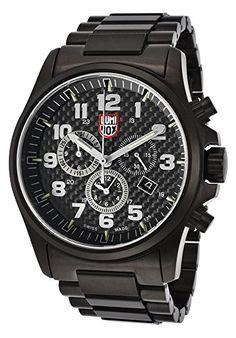 13bbd297c3 Amazon.com  Luminox Men s Atacama Field Chrono Black Ion Plated Steel  Carbon Fiber Dial  Watches