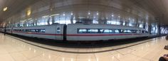 At the Frankfrut train station with panorama mode.