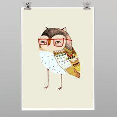 Little Owl Print by Ashley Percival - Art Prints NZ Art Prints, Design Prints, Posters & NZ Design Gifts | endemicworld