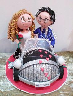 Fofuchos novios en su coche de bodas http://fofuchasnuki.blogspot.es/ #fofucha…