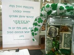 PREVIOUS CONTEST! March contest! St. Patrick's Day Themed guessing jar!   www.peninsulabraces.com
