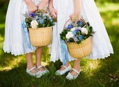 Nantucket Baskets to put flowers in | nantucket baskets for flower girls | Love is patient.....