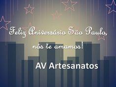 Feliz Aniversário SP by AV Artesanatos, via Flickr