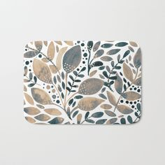 The perfect bath mats: fuzzy, foamy and finely enhanced with brilliant art. With a soft, quick-dry microfiber surface, memory foam cushion and skid-proof backing, our shower mats are a cut above your typical rug. Keep them clean with a gentle machine wash (no bleach!) and make sure to hang dry. #society6 #homedecor #interiordesign #bath #bathmat #bathroom #foliage #watercolor #neutral #brown #grey #leaves #leaf #branches #painting #printondemand