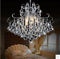 AC110V 220V Chandeliers Modern Crystal LED Chandelier Lamps with 6 Lights, Lustre De Crystal,Lustres De cristal Free Shipping-in Chandeliers from Lights & Lighting on Aliexpress.com | Alibaba Group