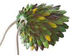 Green Enamel Pendant