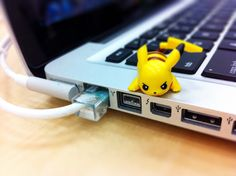 I am not exactly sure of what purpose the Pikachu serves for the computer, but its still adorable~