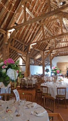 Pangdean barns The magnificent roof - Without doubt the most stunning feature of the Old Barn is the roof interior and the oak framing. Adorned with over 3000 fairy lights it is a simply spectacular structure and never ceases to impress. Pangdean Old Barn wedding venue in Brighton, Sussex