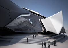 A Walltopia Parametric design for Collider Activity Center by Tom Wiscombe Design in Bulgaria, It's based on the organizational model of objects in objects.