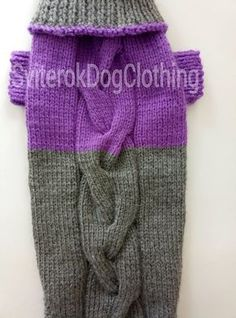 Pattern Grey Violet Sweater For Big Dog.Sweater For Pet.Sweater For Big Dog.Handmade Knit Pet Clothes.Pet Clothing.Knitting for Dogs.Size XL