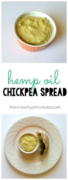 Hemp oil chickpea spread recipe! Similar to hummus with excellent health benefits. Perfect on sandwiches and pitas. Vegan, vegetarian, and kid friendly!