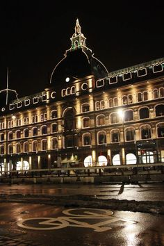 Magasin (du Nord), shopping center, Copenhagen - supposedly you can see Hans Christian Anderson's old apartment here
