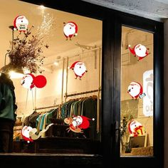 Xmas Santa Snowan Removable DIY Christmas Wall Stickers (RED WITH WHITE) in Wall Stickers | DressLily.com