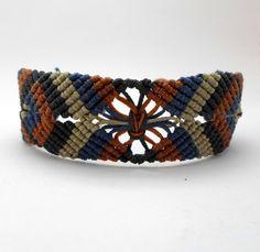 macrame bracelet for menmacrame bracelet autumn by AbyCraft