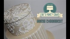 How to: Brush embroidery cake decorating How To Tutorial Zoes Fancy Cakes. How to brush embroider a cake with Royal icing. Brush embroidery makes a really impressive pattern on any cake and best of all its easy to do! Ideal for wedding cakes and gives a Cake Decorating Techniques, Cake Decorating Tutorials, Cookie Decorating, Decorating Cakes, Hat Box Cake, Gift Box Cakes, Brush Embroidery Cake, Wedding Shower Cookies, Shower Cake