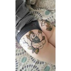 Swooned by the Fullest of Moons, Round two of my ass tattoo ? ❤ liked on Polyvore featuring accessories and body art