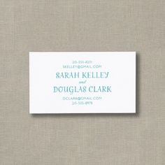 Couples Personalized White Contact Cards