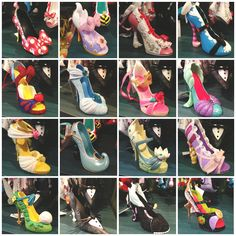 Disney High Heel ornaments.. I want them all but LOOK AT THE LITTLE MERMAID ONE!!