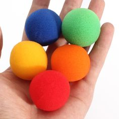 5 color Close Up Magic Street Classical Comedy Trick Soft Sponge Balls Medium size