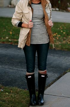 Could make this outfit with things I already have in my closet. Caroline? Does jcrew have striped shirts now?