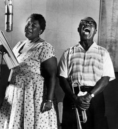 Ella Fitzgerald and Louis Armstrong. The best Duo. Ever.