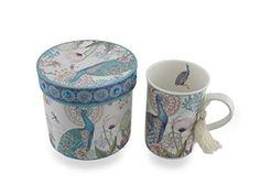 Peacock Flower Garden Tea or Coffee Mug with Bejeweled Decorative Storage Gift Box Kingmax http://www.amazon.com/dp/B00SXBE5X6/ref=cm_sw_r_pi_dp_t-cFvb0CTEY5S