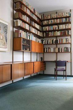 Home Library Design, Home Design, Interior Design, Modern Library, Design Hotel, Design Design, Luxury Homes Interior, Interior Architecture, Cool Furniture
