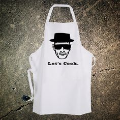 Breaking Bad Heisenberg Walter White Chef Cooking Apron. This would be a great Christmas gift for Ilene!