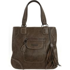 Khaki tassel shopper bag (€27) ❤ liked on Polyvore featuring bags, handbags, purses, women, shopper handbags, shopping bag, brown purse, brown bag i tassel handbag